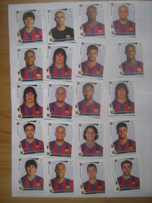 PANINI - Champions League 2009-2010 / Barcelona (20 stikere) foto