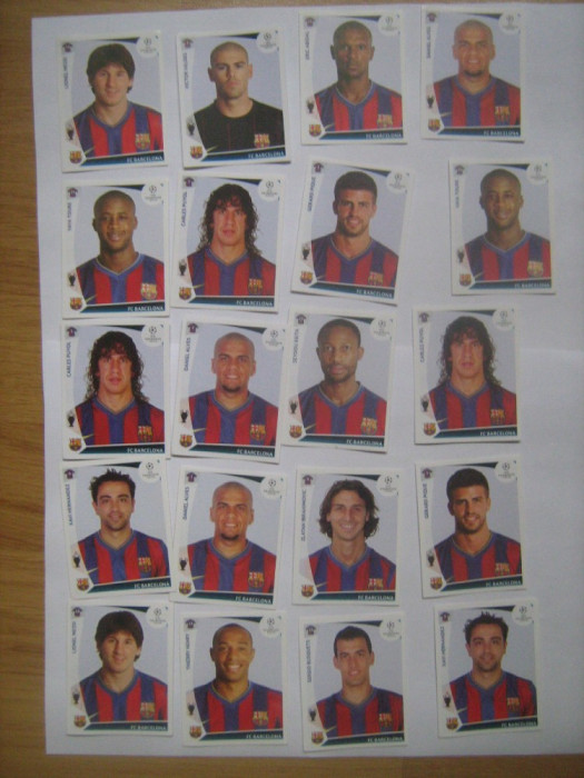 PANINI - Champions League 2009-2010 / Barcelona (20 stikere)