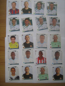 PANINI - Champions League 2009-2010 / lWolfsburb, Atletico Madrid, Girondins Bordeaux, Barcelona, AC Milan (20 stikere)