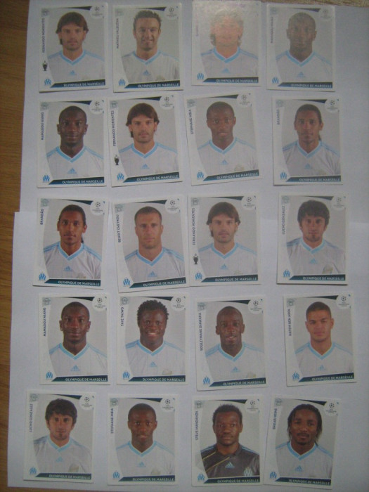 PANINI - Champions League 2009-2010 / Olympique de Marseille (20 stikere)
