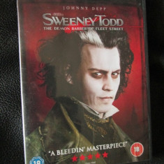 SWEENEY TODD (cu JOHNNY DEPP) - film DVD (original din ANGLIA, in stare impecabila!!!), Engleza
