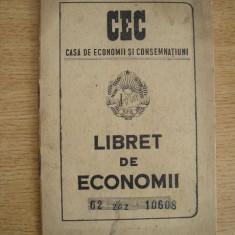 BDA S3 - LIBRET DE ECONOMII - 1952 - PIESA DE COLECTIE, Documente