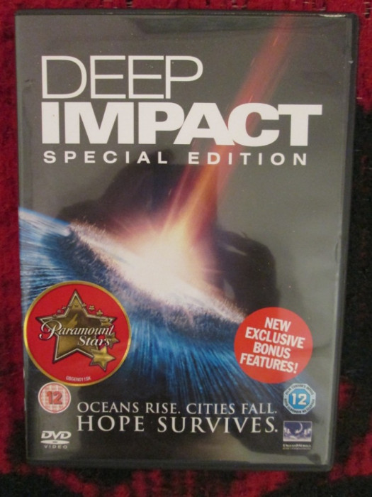DEEP IMPACT. SPECIAL EDITION 1 DVD (cu MORGAN FREEMAN, original!)