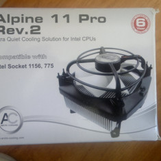 COOLER CPU ARTIC COOLING ALPINE 11 PRO REV.2 PERFECT FUNCTIONAL! - Cooler PC Arctic Cooling, Pentru procesoare