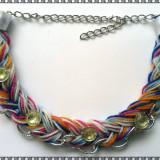 Colier handmade multicolor - Set bijuterii handmade si fashion