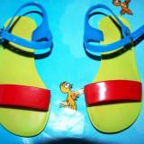 sandalute plaja plastic, patriotice