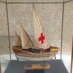 Macheta Corabie Nina/Boat Miniature- din lemn lucrata manual - Macheta Navala Alta, 1:50