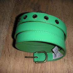 SUPER PRET! Curea dama PIECES noua, piele nuanta verde Sz 95 !, Marime: 95cm, Asemanator piele