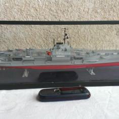 Macheta Portavion USS Saratoga/Boat miniature - lucrata manual - Macheta Navala Alta, 1:720