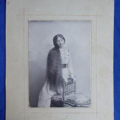 FOTOGRAFIE VECHE PE SUPORT DE CARTON * FOTO ALFRED BRAND,FOTOGRAFUL CURTII REGALE - PLOESCI - 1901