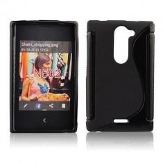 Husa TPU S-LINE Nokia Lumia 502 Black - Husa Telefon