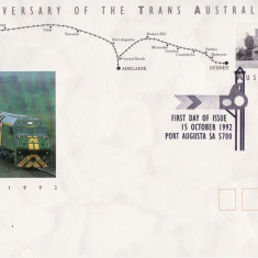 AUSTRALIA 1992 TRENURI FDC