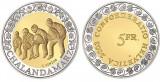 ELVETIA MONEDE COMEMORATIV 5 Franken 2003 KM-103 CHALANDAMARZ UNC, Europa