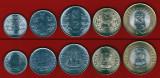INDIA █ SET COMPLET DE MONEDE █ 50 Paise, 1, 2, 5, 10 Rupees █ 2011 █ UNC, Asia