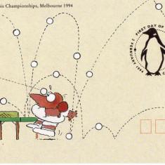 AUSTRALIA 1994 CAMPIONATUL MONDIAL DE TENIS DE MASA PT. VETERANI FDC