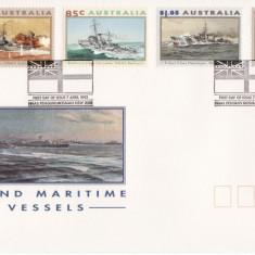 AUSTRALIA 1993 CORABII - VAPOARE FDC