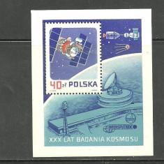 Polonia 1987 - CONFERINTA INTERCOSMOS, colita nestampilata T223 - Timbre straine, Europa, Spatiu