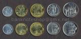 ETIOPIA SET COMPLET DE MONEDE 1, 5, 10, 25, 50 Cents 1977-2008 UNC, Africa