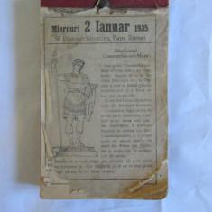 RARITATE! CALENDAR PERETE CU 364 FILE DIN ANUL 1935 - Calendar colectie