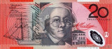 AUSTRALIA █ bancnota █ 20 Dollars █ 2010 █ P-59g █ UNC █ necirculata █ polymer