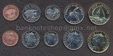 BERMUDA SET COMPLET DE MONEDE 1, 5, 10, 25 Cents, 1 Dollar UNC