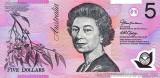 AUSTRALIA █ bancnota █ 5 Dollars █ 2013 █ P-57h █ UNC █ necirculata █ polymer