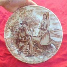 Frumoasa farfurie decorativa din ceramica fina  - Castelroux !!!
