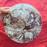 Frumoasa farfurie decorativa din ceramica - Castelroux !!!