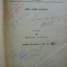 Andrei Radulescu - Curs de drept civil - probabil 1938