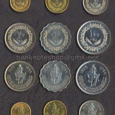 LIBIA SET COMPLET DE MONEDE 1+5+10+20+50+100 Dirhams 1979 UNC, Africa