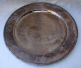 Superba farfurie din alpacka argintata, avand diametrul de 27,7 cm, Vas