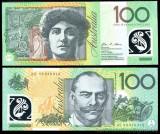 AUSTRALIA █ bancnota █ 100 Dollars █ 2008 █ P-61b █ UNC █ necirculata █ polymer