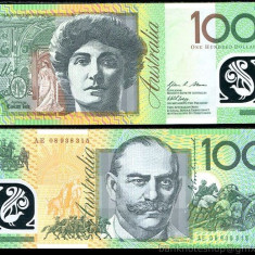 AUSTRALIA █ bancnota █ 100 Dollars █ 2008 █ P-61 █ UNC █ necirculata █ polymer