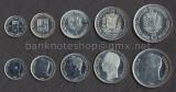 VENEZUELA SET COMPLET DE MONEDE 25+50 Centimos 1+2+5 Bolivares 1989-1990 UNC