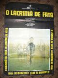 Afis cu 2 fete - Film de Iosif Damian - O lacrima de Fata 1980, 96 x 66 cm