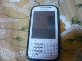 Samsung Galaxy Chat (Aproape Nou + Husa Albastra,Incarcator Samsung,Cablu USB), 2GB, Alb, Neblocat