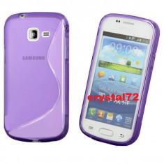 Livrare gratuita! Husa termorezistenta silicon - gel TPU pentru Samsung Galaxy Trend Lite S7390 (Samsung Galaxy Fresh) + folie ecran + laveta, mov - Husa Telefon