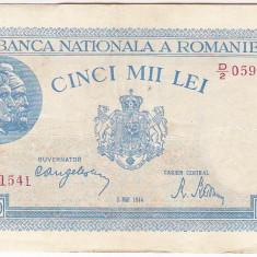 Bancnota 5000 lei - 2 mai 1944 - Bancnota romaneasca
