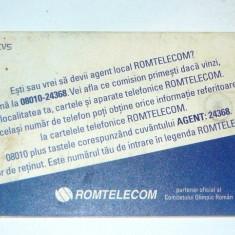 Cartela telefonica - RECLAMA - LEGENDA ROMTELECOM CONTINUA - 2003 - 2+1 gratis pt produse la pret fix - RBK4487 - Cartela telefonica romaneasca