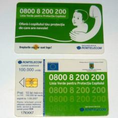 Cartela telefonica - COPIL - PROTECTIA COPILULUI - 2005 - 2+1 gratis pt produse la pret fix - RBK4450 - Cartela telefonica romaneasca