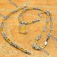 Set INOX lant+cruce model Versace COD 1045A - Set bijuterii inox