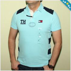 Tricou Polo TOMMY HILFIGER - Tricouri Barbati - 100% AUTENTIC - Tricou barbati Tommy Hilfiger, Marime: S, Culoare: Albastru, Maneca scurta, Bumbac