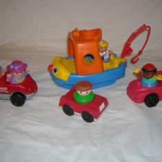 Fisher Price - Vaporul muzical Little People si 3 masinute cu figurine si sunete 6-36 Luni - Vehicul
