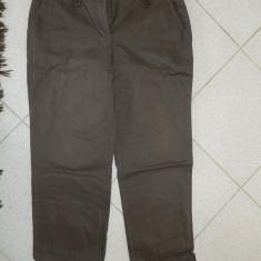 Pantaloni de dama, marca Casual Wear, marimea 44 - Pantaloni dama, Marime: XXL, Culoare: Maro, Lungi, Bumbac