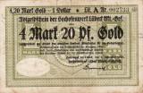 Germania Berlin 4 marci si 20 pfennig Gold 1923 Rara