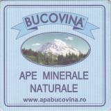 Suport de pahar / Biscuite BUCOVINA - Cartonas de colectie