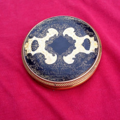 Pudriera gravata manual din alama - vintage !!!