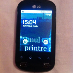 Lg p350 - Telefon LG, Argintiu, 4GB, Neblocat, Single core, 3 GB