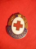 Insigna veche- Sora de Cruce Rosie , h= 2,5 cm