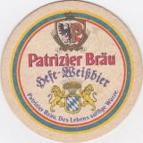 Suport de pahar / Biscuite PATRIZIER BRAU - Cartonas de colectie